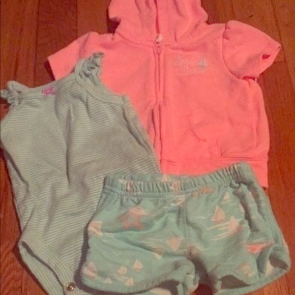 5fb8fcfc3 Carter's Matching Sets | Carters 3piece Hoodie And Shorts Outfit ...